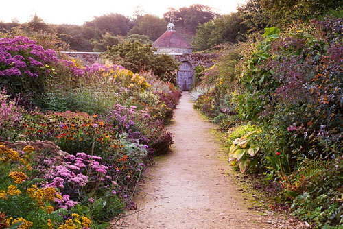 Double herbaceous perennial border in September - Parham, West Sussex - © Abigail Rex/GAP Photos