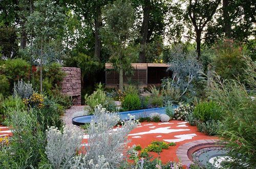 The australian garden presented by the royal botanic gardens melbourne gold medal winner rhs - Chelsea flower show gold medal winners ...