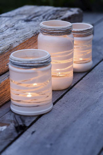Home made garden lanterns - © GAP Photos/Victoria Firmston