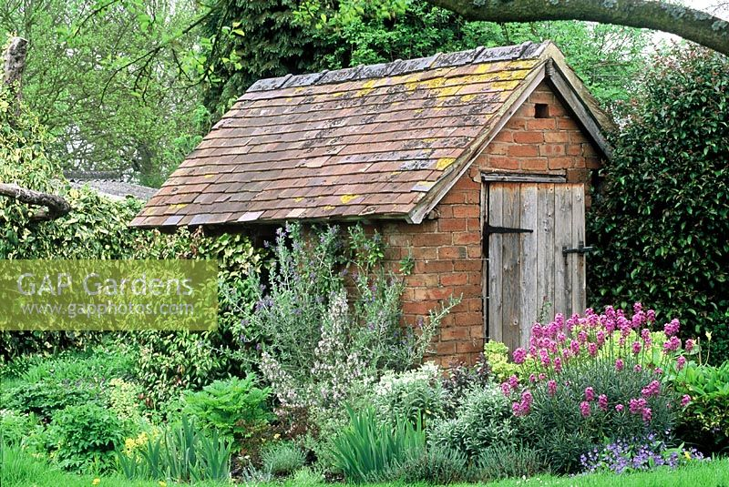 gap gardens brick built shed with clay roof tiles. Black Bedroom Furniture Sets. Home Design Ideas