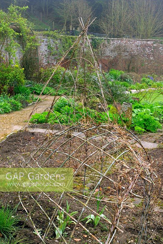 Superieur Plants Supports   Living Bamboo Structure In Kitchen Garden At Hadpsen  Gardens In Somerset