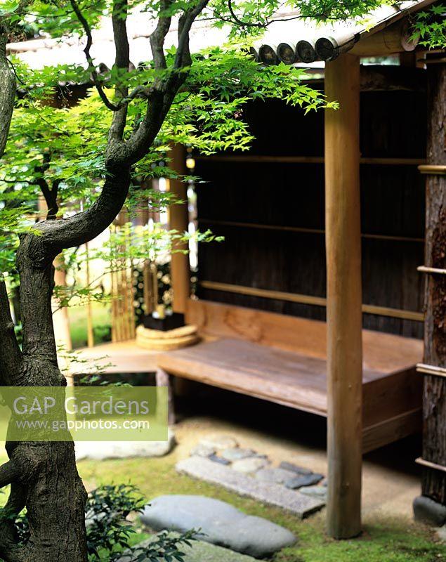 Attrayant Contemplative Seat In Japanese Garden