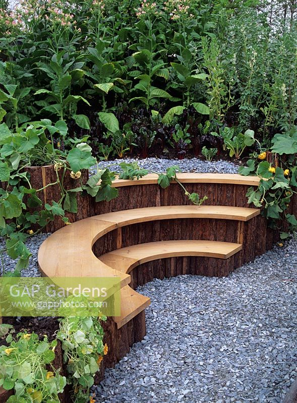Fabulous Gap Gardens Soft Wood Semi Circular Bench With Edging Of Cjindustries Chair Design For Home Cjindustriesco