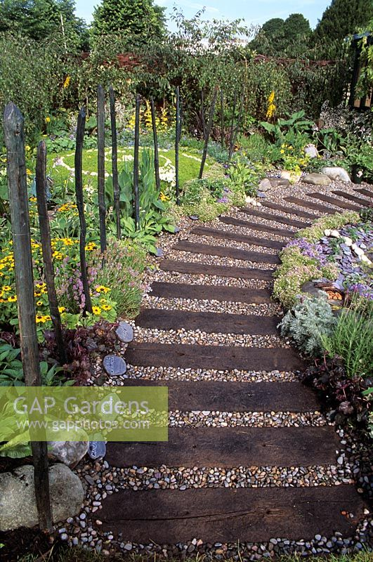Gap Gardens Garden Path Made From Old Railway Sleepers