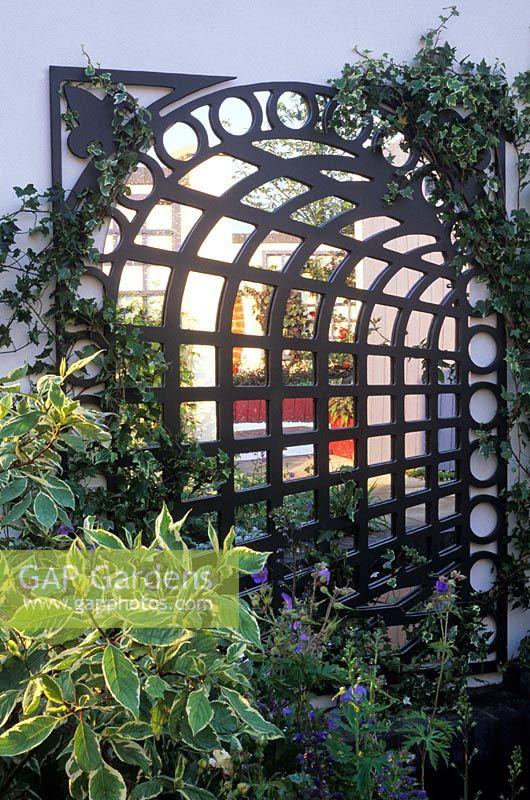 Gap Gardens Trompe L Oeil Mirror Behind Trellis