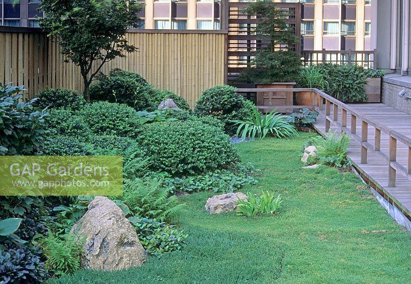 Gap Gardens Modern Zen Style Roof Garden In New York Usa Image No 0076605 Photo By Jerry