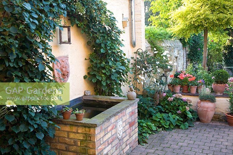 Gap Gardens Mediterranean Courtyard With Well Water