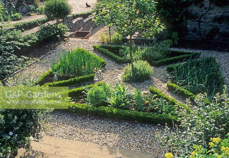 Gap gardens herb and vegetable garden parterre hinton for Parterre vegetable garden design