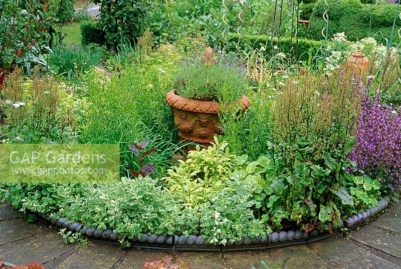 Small Herb Garden With Ornate Edging