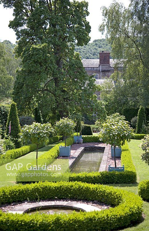 Semi Formal Garden At Morville Hall