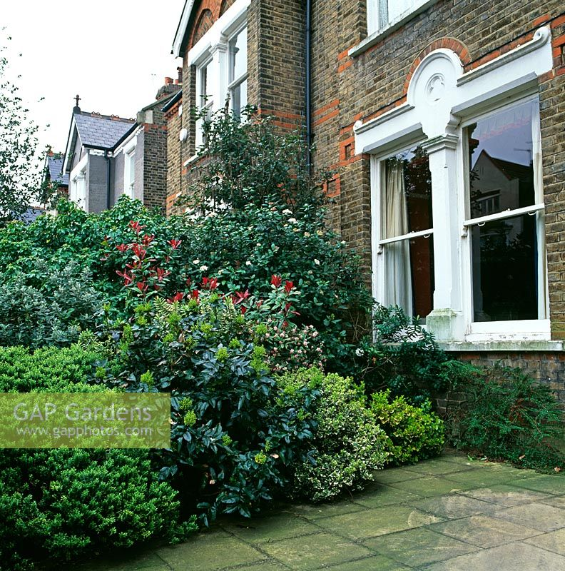 Front garden of Victorian terraced house
