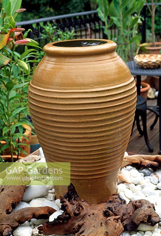 Terracotta Pot Water Feature On Roof Terrace 28a Braces Lane Bromsgrove Worcestershire