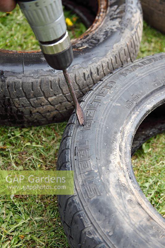 how to make a tyre garden