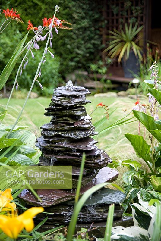 Slate monlith water feature