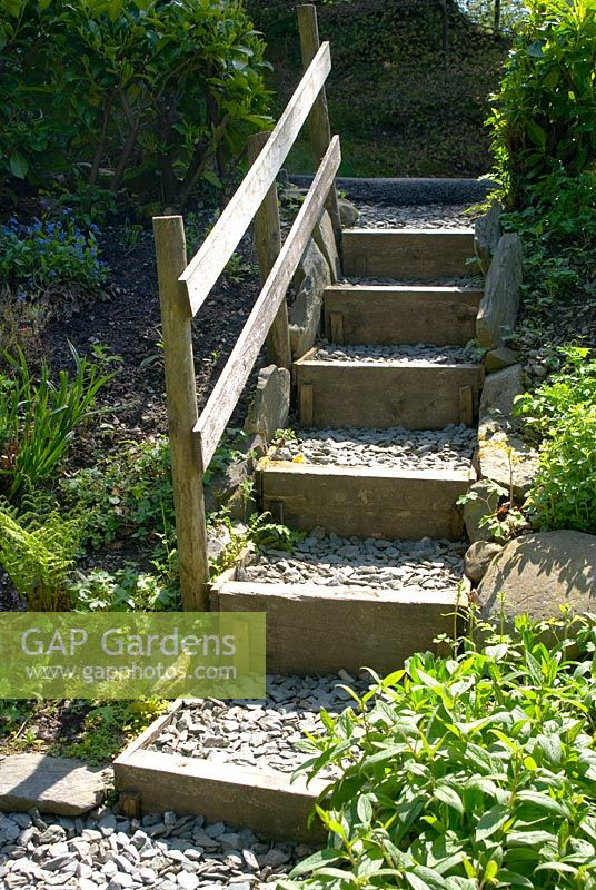 Pretty Gap Gardens  Garden Steps Made Of Wood And Stone Chippings With  With Foxy Garden Steps Made Of Wood And Stone Chippings With Handrail With Divine Landscape Gardening Qualifications Also Garden Fence Lights In Addition Gardening Cartoons And St Vincent Botanical Gardens As Well As Princes St Gardens Edinburgh Additionally Garden Furnisher From Gapphotoscom With   Foxy Gap Gardens  Garden Steps Made Of Wood And Stone Chippings With  With Divine Garden Steps Made Of Wood And Stone Chippings With Handrail And Pretty Landscape Gardening Qualifications Also Garden Fence Lights In Addition Gardening Cartoons From Gapphotoscom