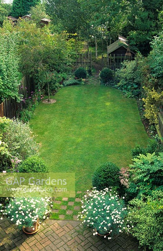 Long Narrow Town Garden Divided Into