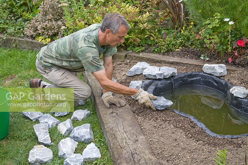 gap gardens garden pond project step by step adding