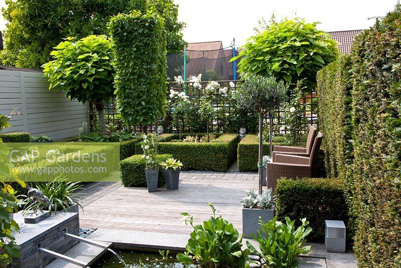 Patio Trees Uk GAP Gardens Small Formal Urban Garden With Raised Pond .