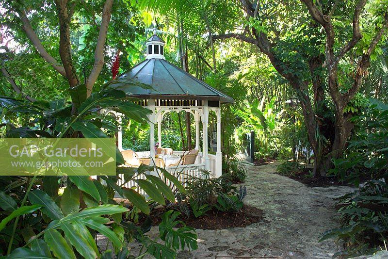 Gazebo In Tropical Gardens Sundy House Delray Beach Florida