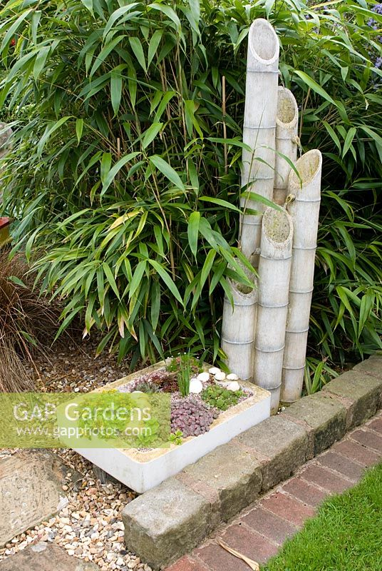 Gap gardens bamboo with bamboo water feature and old for Bamboo water garden