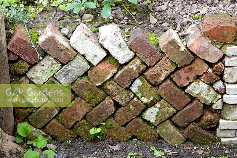 Retaining brick wall