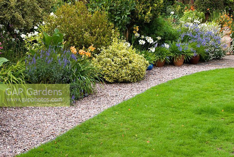 GAP Gardens Mature border with perennials and shrubs including