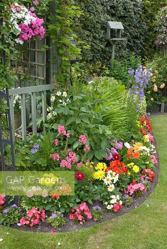 GAP Gardens Colourful border with tender plants including Dahlia