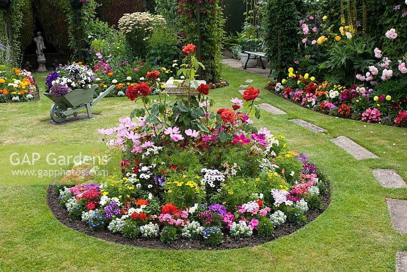 Gap Gardens Colourful Mixed Beds Filled With Rosa Perennials And