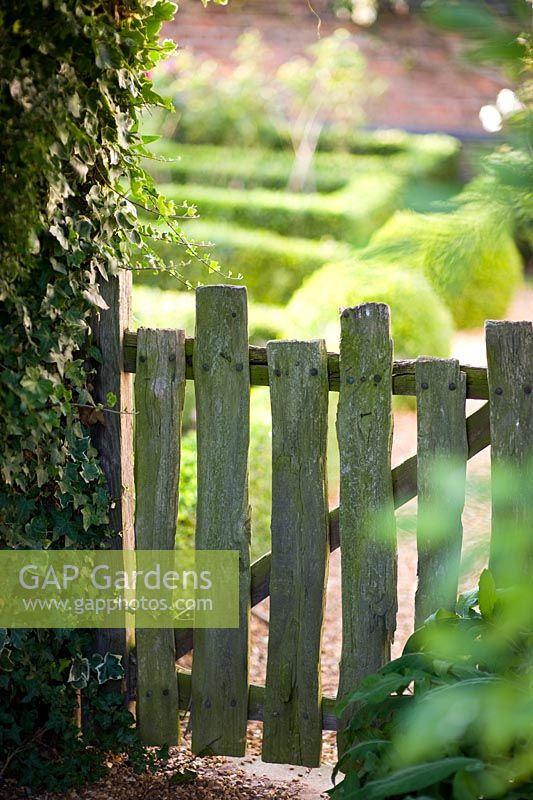 Rustic Garden Gate With Hedera