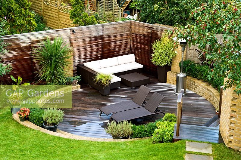 GAP Gardens - Overview of small urban garden in September ... on Raised Garden Patio Ideas id=68193