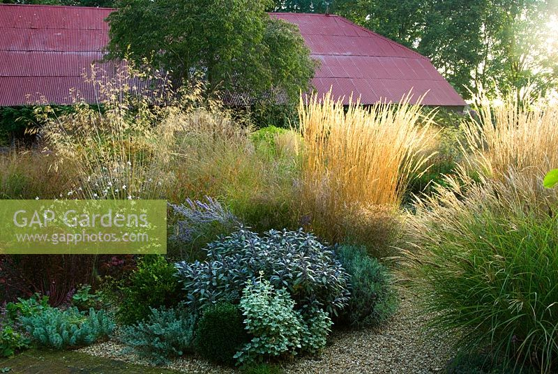 Gap Gardens Central Circular Bed Is A Mass Of Graceful Grasses And Herbaceous Perennials