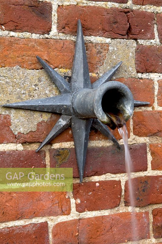 Gap Gardens Wall Mounted Water Feature With Spout Silverstone Farm Norfolk Image No