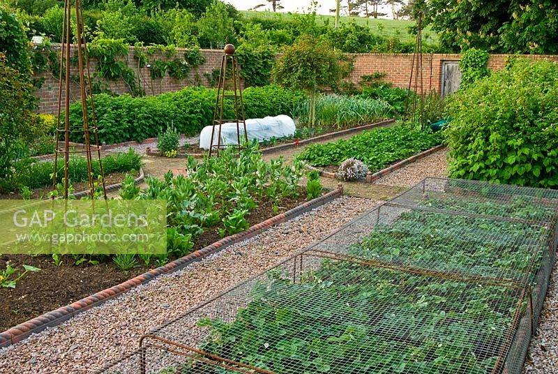 GAP Gardens - Walled kitchen garden with gravel paths