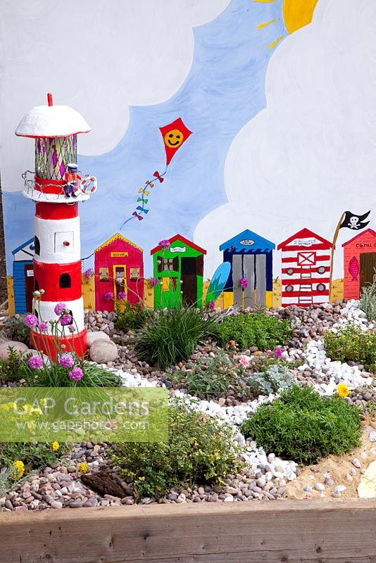 Miniature Garden For Children With Seaside Theme