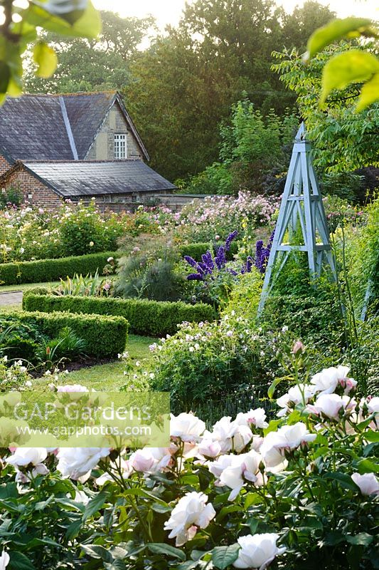 Rose garden, Borde Hill, Sussex.