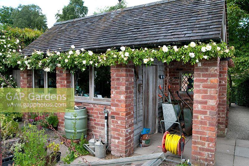 gap gardens brick shed preen manor shropshire image. Black Bedroom Furniture Sets. Home Design Ideas