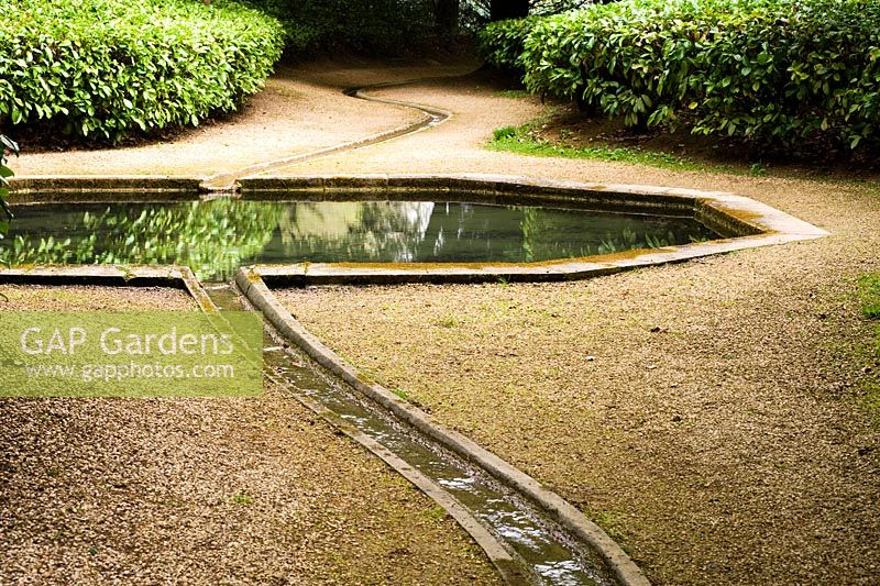 Gap gardens rill leading along the watery walk to and for Garden plunge pool uk