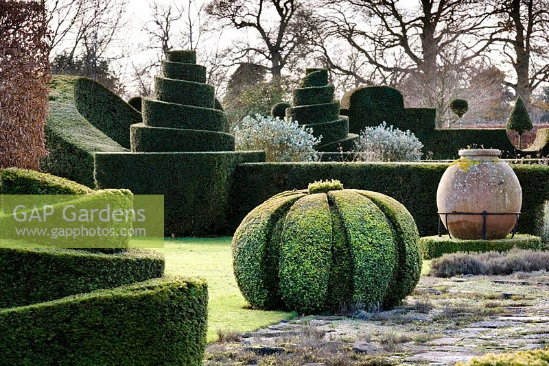 Topiary, Highgrove Garden, December 2007.