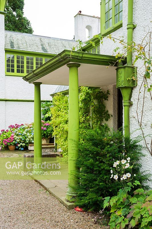 Gap Gardens Porch Over The North Facing Front Door With All