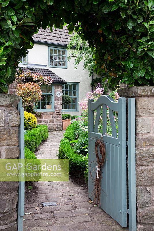 Gap Gardens Open Pale Blue Cottage Garden Gate With Heart