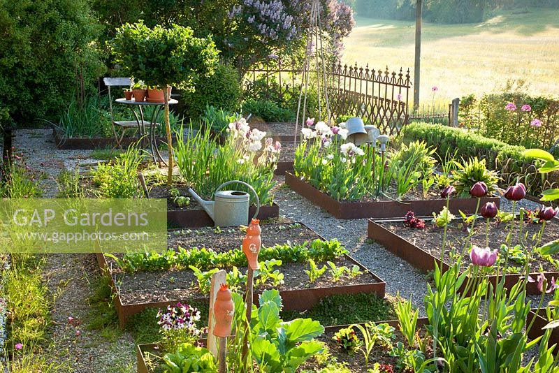 Gap Gardens Modern Kitchen Garden With Antique Elements Beds
