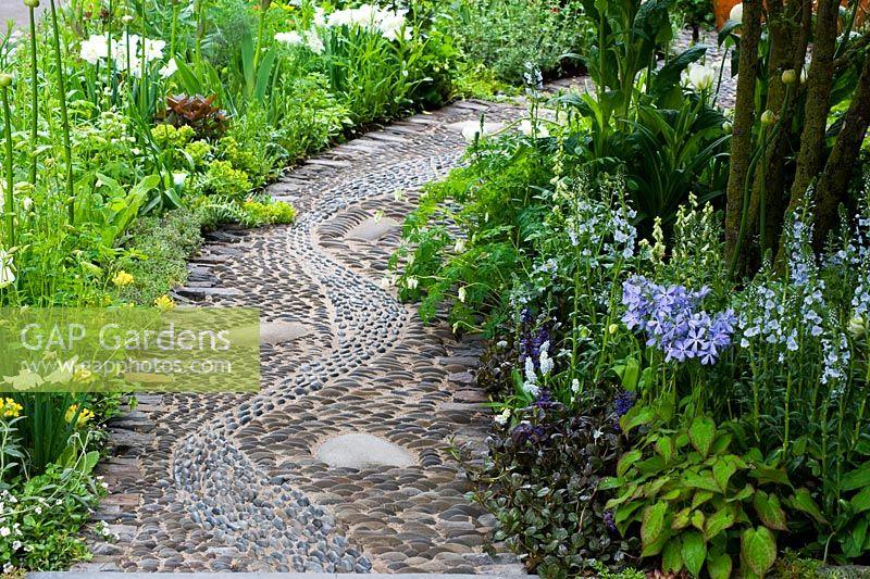 GAP Gardens - Apothecary pebble path - reflexology inlaid stones to ...