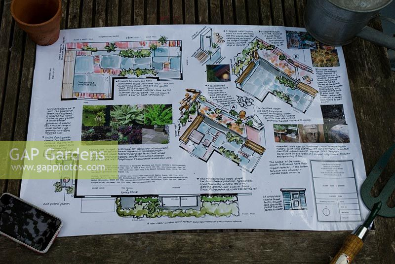 Designs and plans for a small town garden