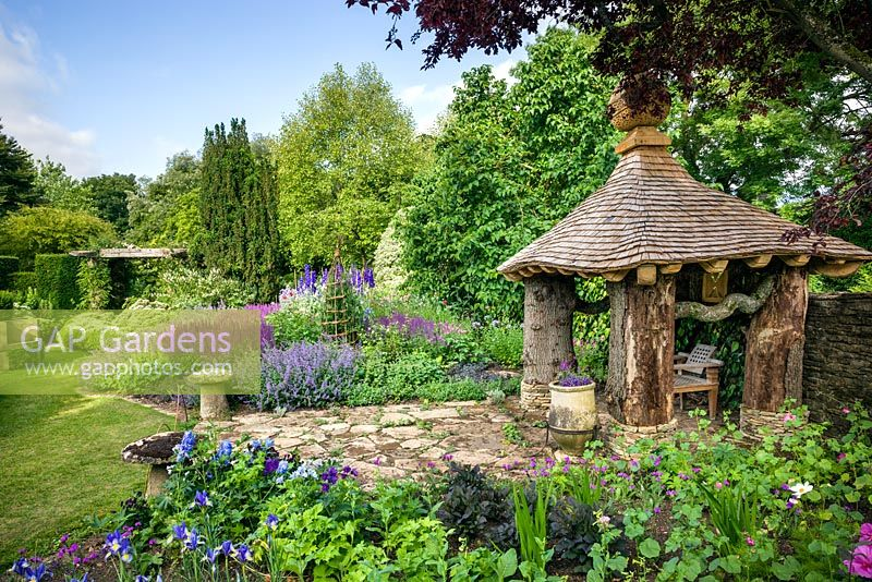 The summer house in the Cottage Garden,  Highgrove 2013.