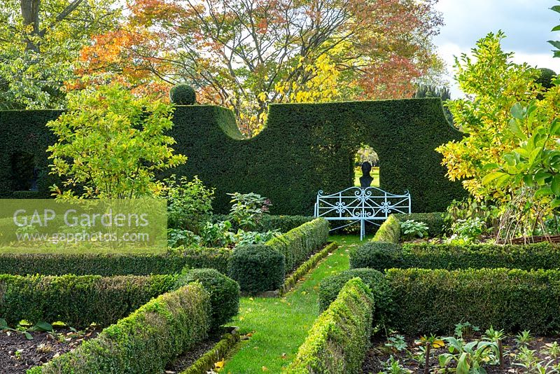 The Sundial Garden In Autumn, Highgrove, October 2013.