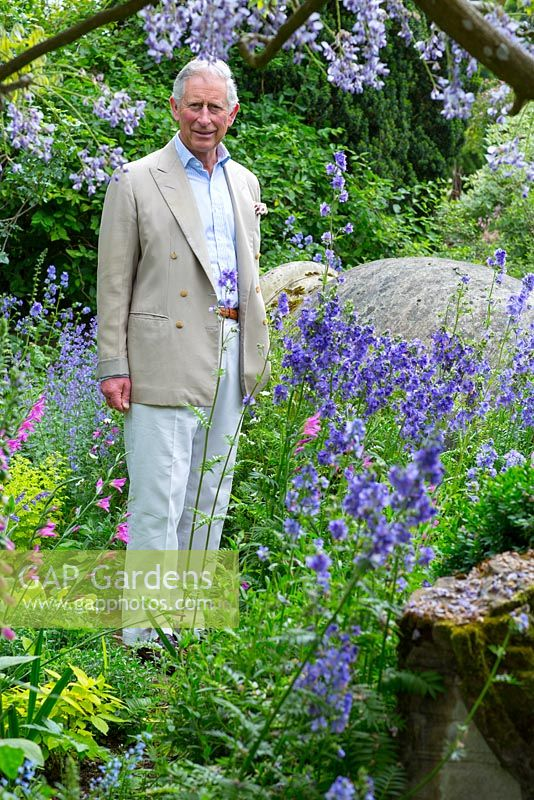 HRH The Prince of Wales. Highgrove Garden, June 2013.