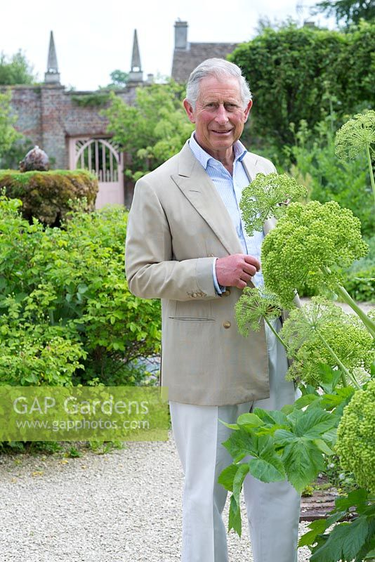 HRH The Prince of Wales, in the Kitchen Garden, June 2013