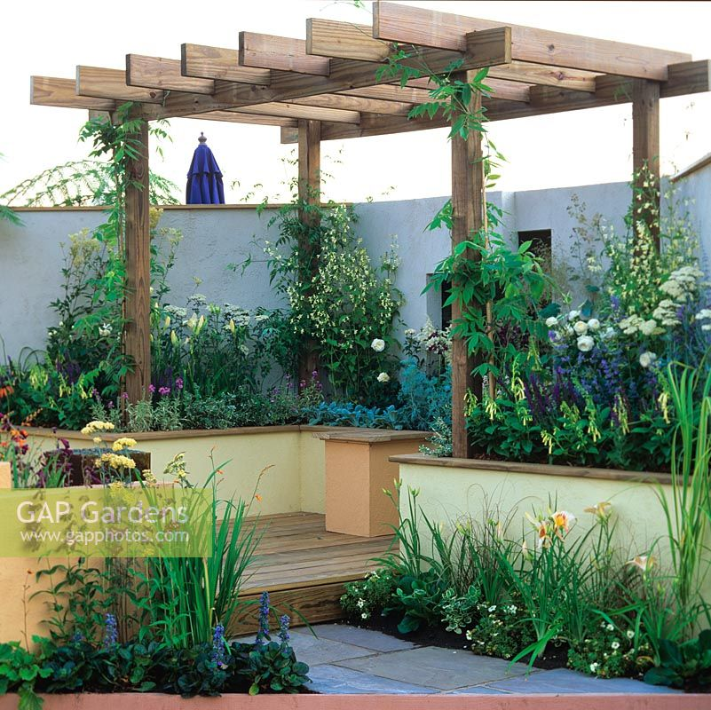 GAP Gardens - Raised deck under pergola increases sense of ... on raised garden bed cold frame, raised garden bed tree, raised garden bed garden, raised garden bed bench, raised garden bed table,