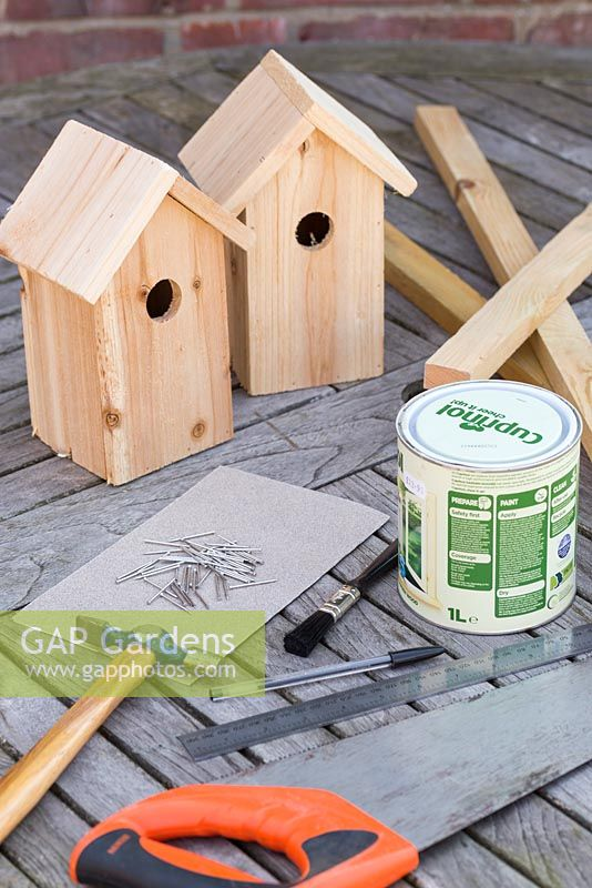 Materials required for creating a Living Roof Bird House