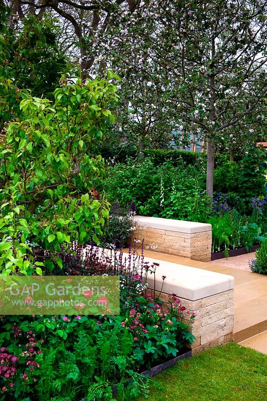 Centenary Homebase Garden. Sowing The Seeds Of Change. Gold Medal. Family  Garden With